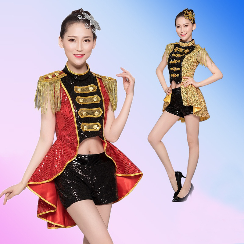 2019 costumes nightclub bar dj singer sexy stage costume red tassels <font><b>bikini</b></font> party jazz dance performance clothing image