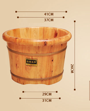 Foot Care Cedar Barrel Bath Wash Basin Thick Tub Solid Wood  Massage Household Pedicure Tube