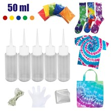 5 Bottles DIY Kits for Fabric Textile Craft Arts Kit Muti-Color Dyes Permanent Paint For DIY Arts ClotheS Fabric 50ML Dropships