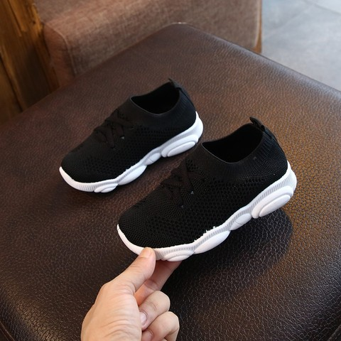 New Baby Sneakers 2019 Fashion Children Flat Shoes Infant Kids Baby Girls Boys Solid Stretch Mesh Sport Run Sneakers Shoes Islamabad