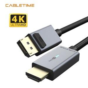 Image 1 - CABLETIME Displayport To HDMI Compatibl Cáp Đèn HDMI Tương Thích 2.0 4K/60Hz Adapter Dành Cho máy Tính Lenovo Dell Macbook Air N356