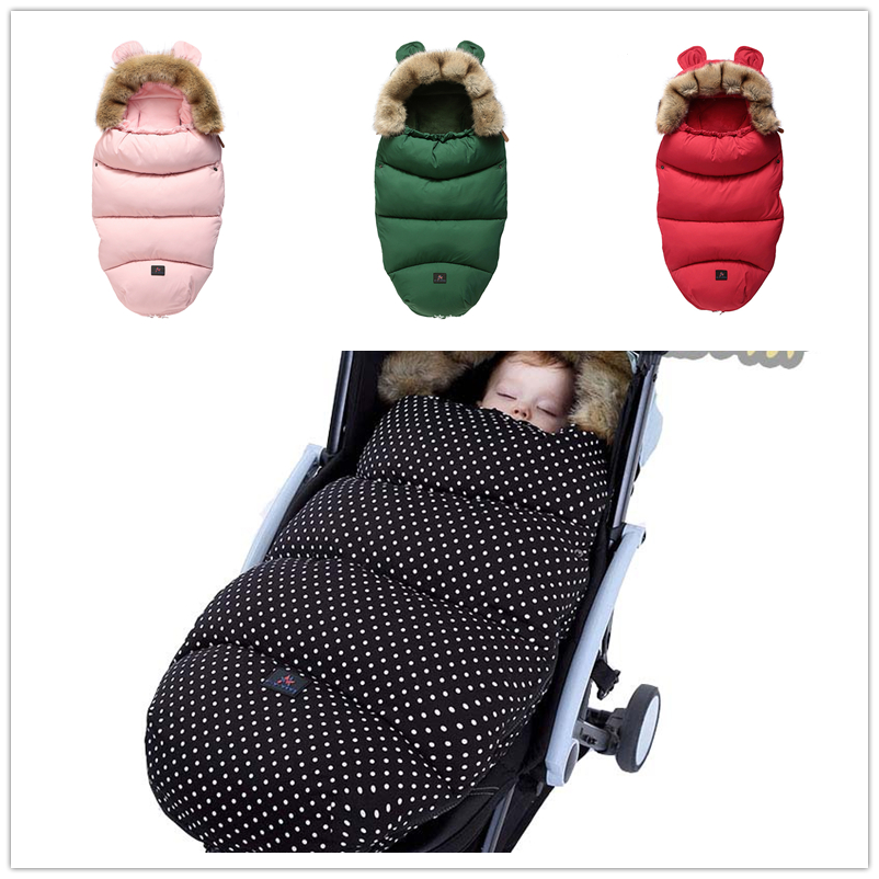 Baby Stroller Sleeping Bag Infant Winter Stroller Footmuff Thick Warm Wheelchair Envelope For Newborns Winter Warm Sleepsacks
