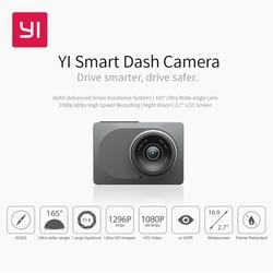 Видеорегистратор YI Smart Dash Camera HD   Беспроводное подключение  Wi-Fi Угол обзора 165 градусов Запись видео