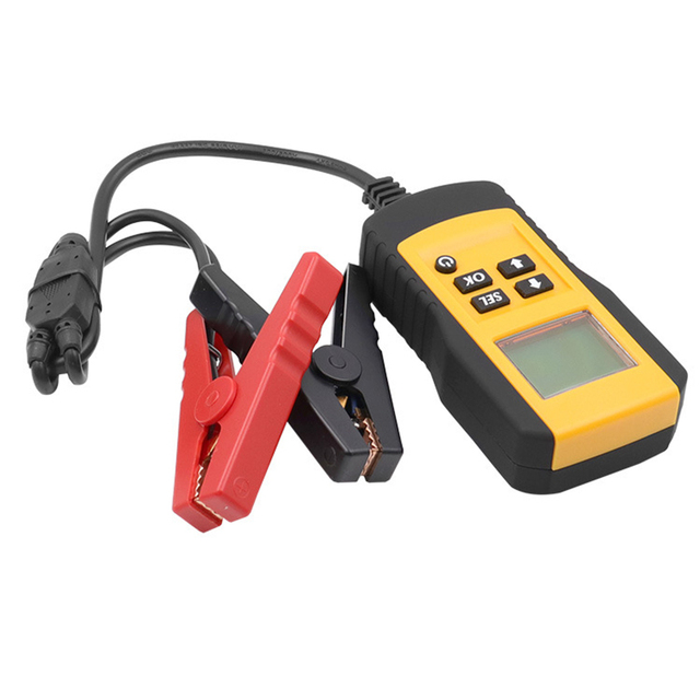 10 Pcs Professional Digital 12V Car Battery Tester Load Test Analyzer for Voltage Resistance and Deep Cycle Battery Life
