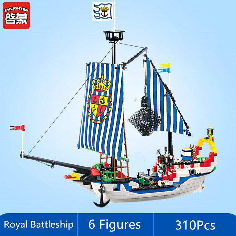 Iluminar navio pirata royal navios de guerra barco tijolos cidade diy blocos de construção conjuntos legoings brinquedos juguetes para crianças