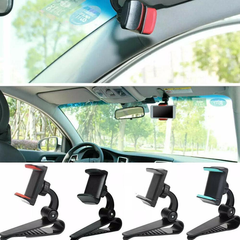 Visera de seguridad Universal innovadora para coche, soporte para teléfono móvil, Clip de espejo de navegación ZY0209, soporte de instalación para teléfono móvil, Handl