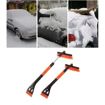 Przednia szyba samochodu szczotka do śniegu chowany narzędzie do usuwania śniegu skrobaczka odpinany skrobak do śniegu dla samochodów ciężarowych SUV tanie i dobre opinie KOU JIANG CN (pochodzenie) 80cm 64cm 400g
