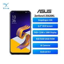 ASUS-teléfono inteligente Zenfone 5 ZE620KL, versión Global, 4GB, 64GB, muesca, 6,2 pulgadas, 19:9, FHD, Android 8,0, + 8MP 12MP, NFC, 3300mAh