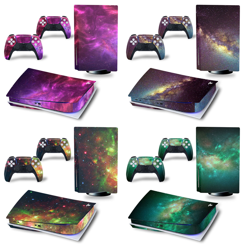 Starry WholeBody Vinyl Skin Sticker Decal Cover for PS5 disk edition Playstation 5 disc System Console and Controllers sticker 1