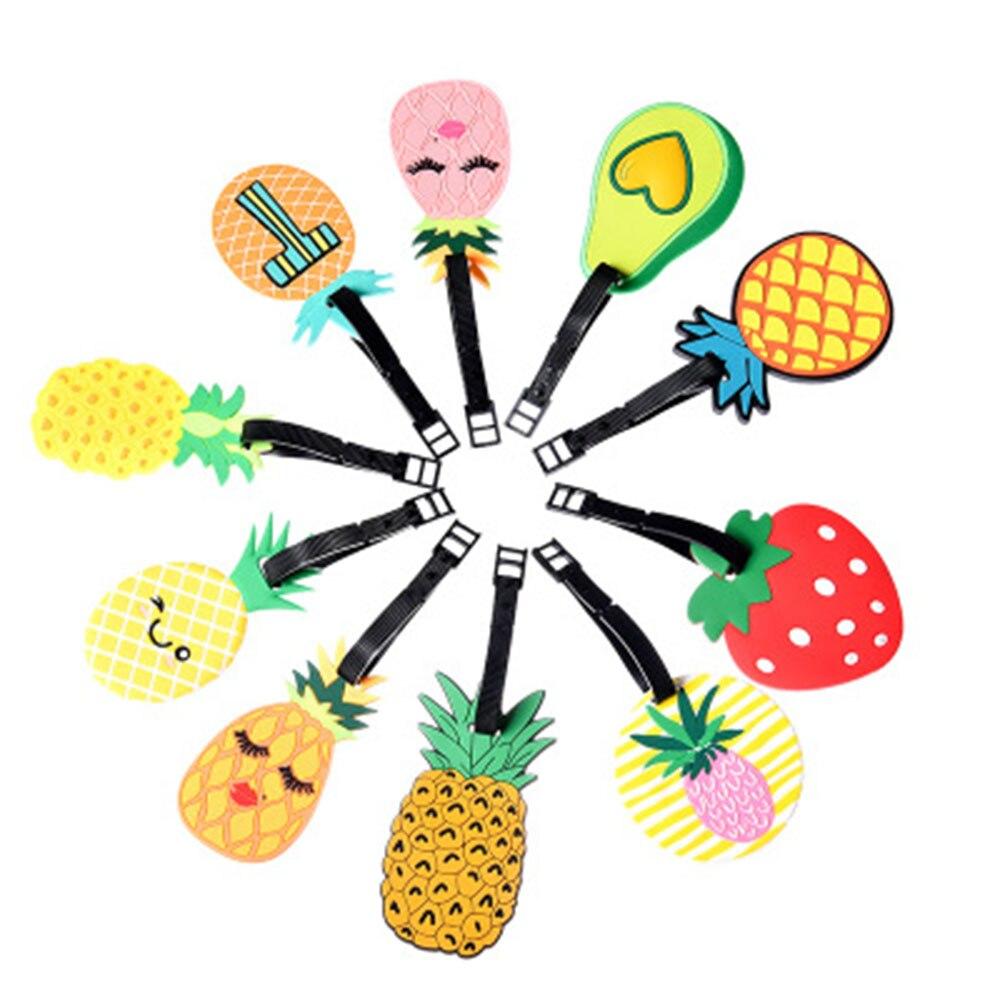 Новая мода ПВХ фруктовый посадочный талон список многофункциональная дорожная бирка багаж заселение бренд пластик список милый кавайный