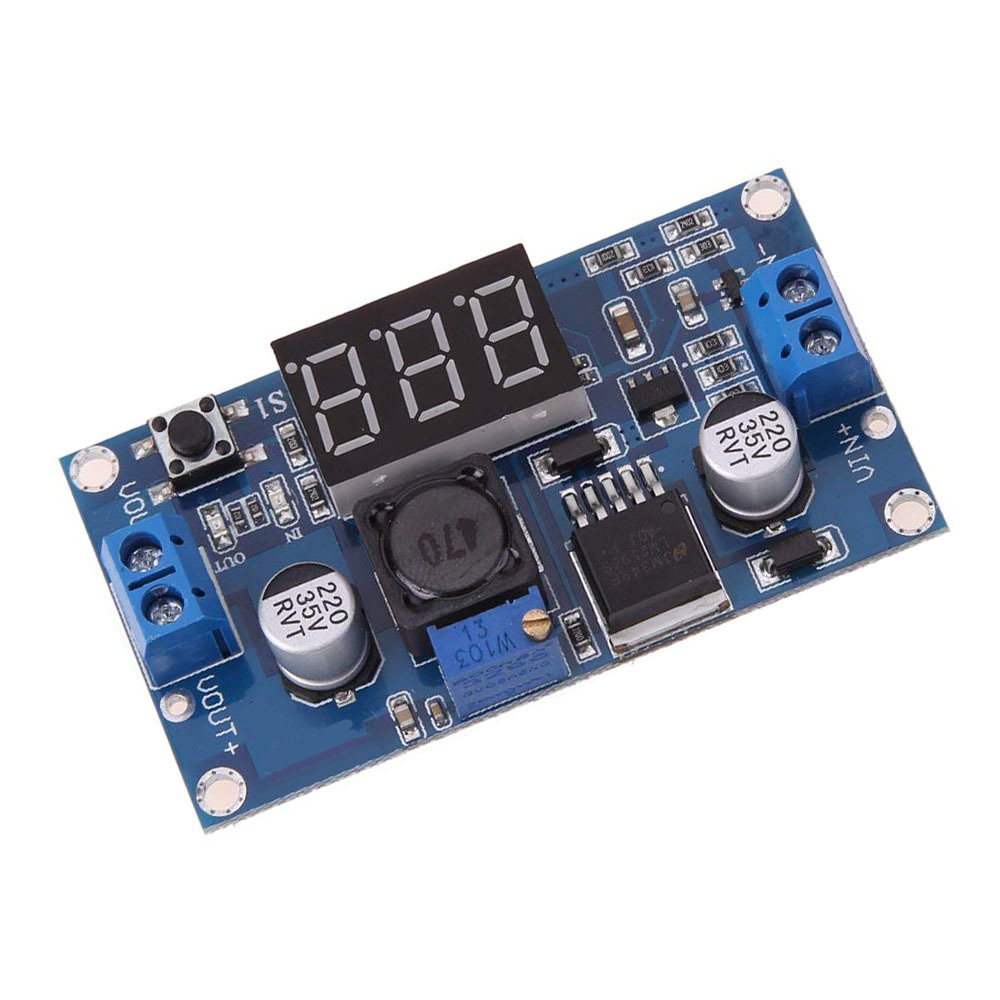 Dc-dc Adjustable Step-down Power Supply Module With Digital Display Dc To Dc Lm2596 Lm2596s Power Module + Led Voltmeter