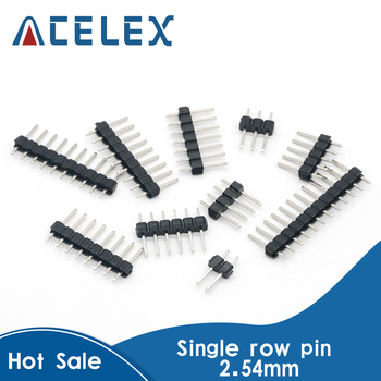 10 sztuk 2.54mm jeden rząd mężczyzna 2 ~ 40P Breakaway płyta PCB do złącz stykowych taśmy Pinheader 2/3/4/5/6/8/10/12/20/40Pin