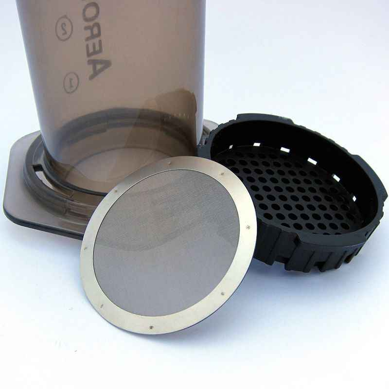 2 filtro de metal de café-filtro de aço inoxidável reutilizável para máquina de café aeropress
