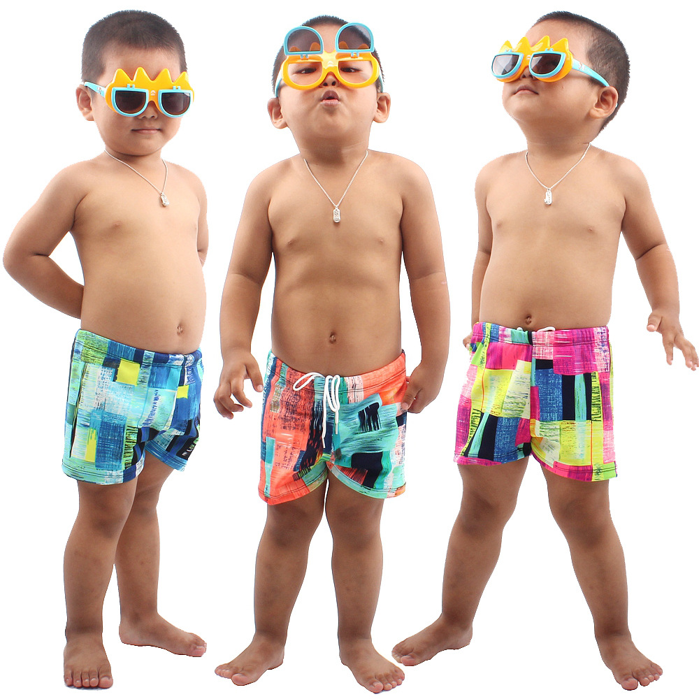 Wholesale CHILDREN'S Swimwear Boys' swimming trunks Teenager Big Virgin Boy Baby Split Type Swimwear Swimming Trunks Boxer