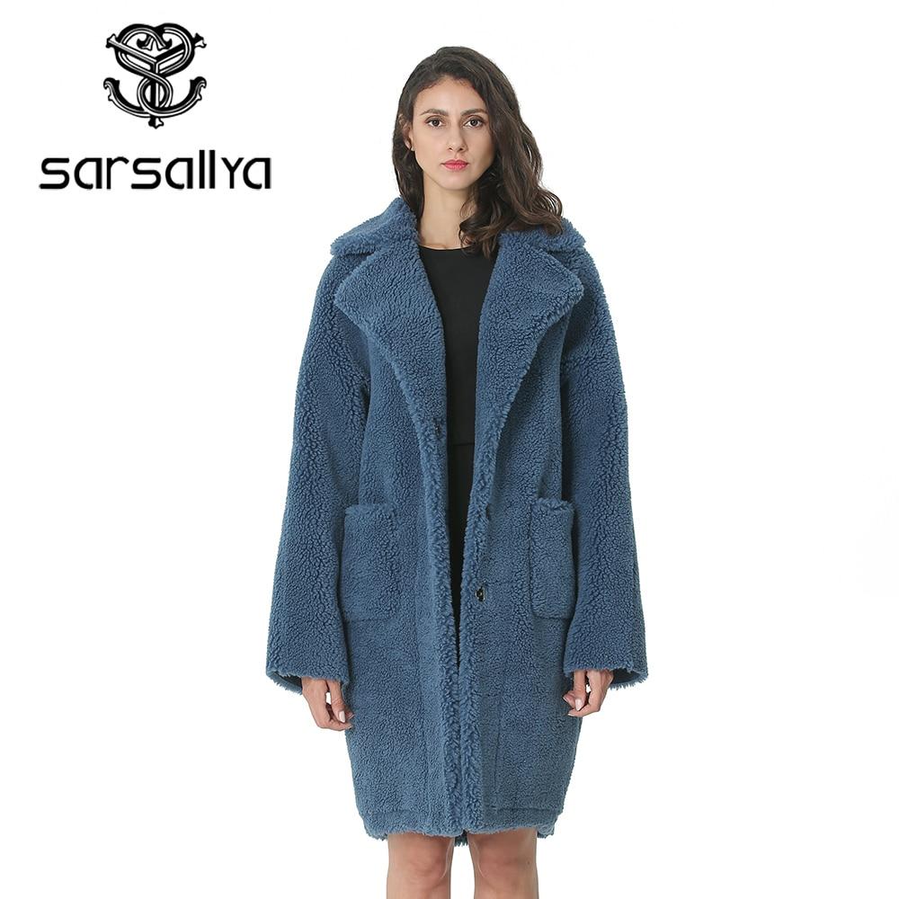 Winter Wool Coat Women Long Coats Female Autumn Ladies Fall Overcoat Woolen Blend Girl Peacoat Casual Fur Wool Jackets 2019 New