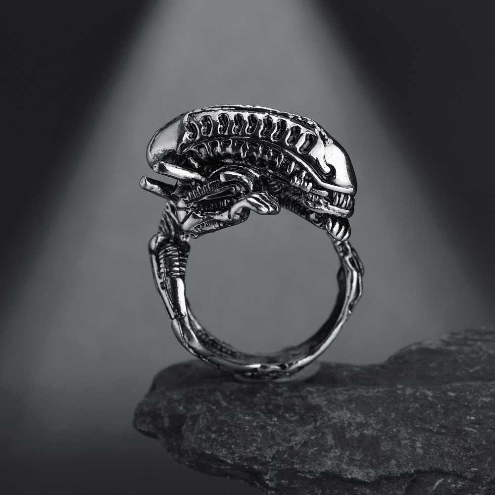 Open Vintage Snake Gratis Grootte Ring Voor Vrouwen Mannen Gothic Rock Hip Hop Zwarte Dieren/Dragon/Herten/geit Vinger Ring