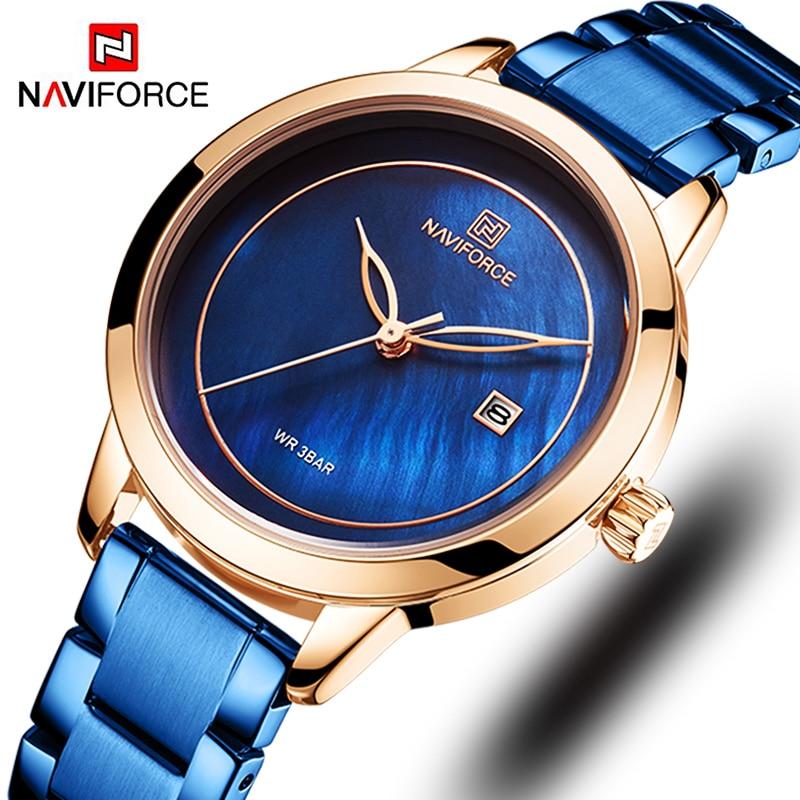 Women Watches Fashion Gold Stainless Steel Ladies Watch Luxury Brand Megir Women's Watches Female Quartz Clock Relogio Feminino
