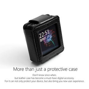 Image 2 - FiiO M5 עור מקרה, מוסיקה נגן mp3 מגן מקרה, DAP עור כיסוי (עם לולאה אלסטית רצועה) שחור, שעון להקת שימוש.