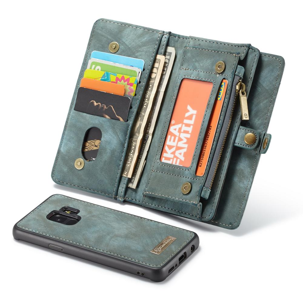 Retro Zipper Wallet Phone <font><b>case</b></font> for <font><b>Samsung</b></font> galaxy A20 <font><b>A30</b></font> A40 A50 A70 Genuine Leather Magnetic adsorption Split <font><b>Flip</b></font> Cover image
