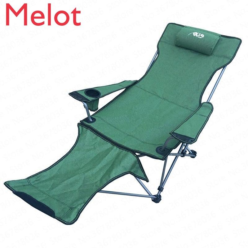 Outdoor Recliner Portable Backrest Leisure Chair Beach Fishing  Nap Lunch Break  Camping  Outdoor Folding Beach Picnic Chair