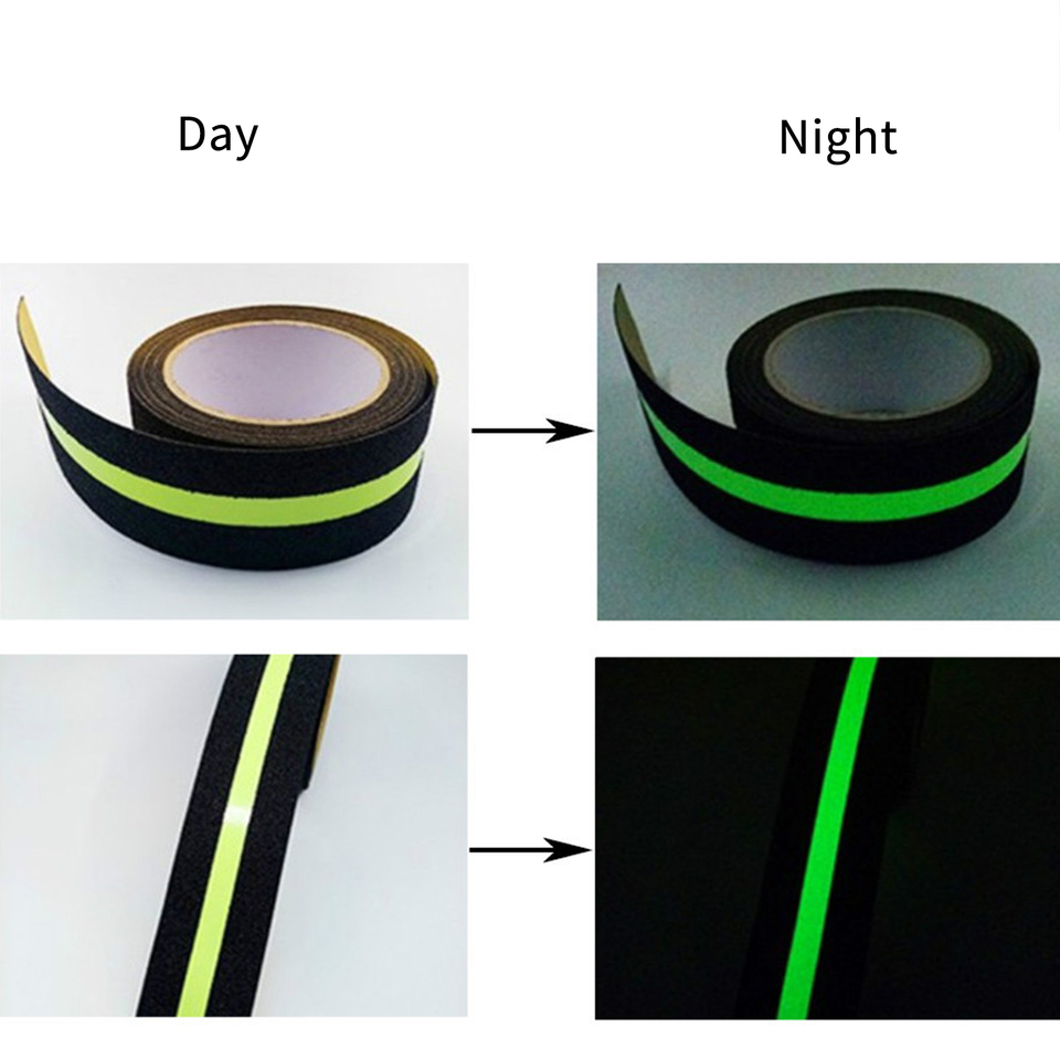 Glow In The Dark Adhesive Grip For Indoor Ladder Floor Outdoor | Outdoor Adhesive Stair Treads | Indoor Outdoor | Bullnose Carpet | Flooring | Carpet Stair | Tape Adhesive