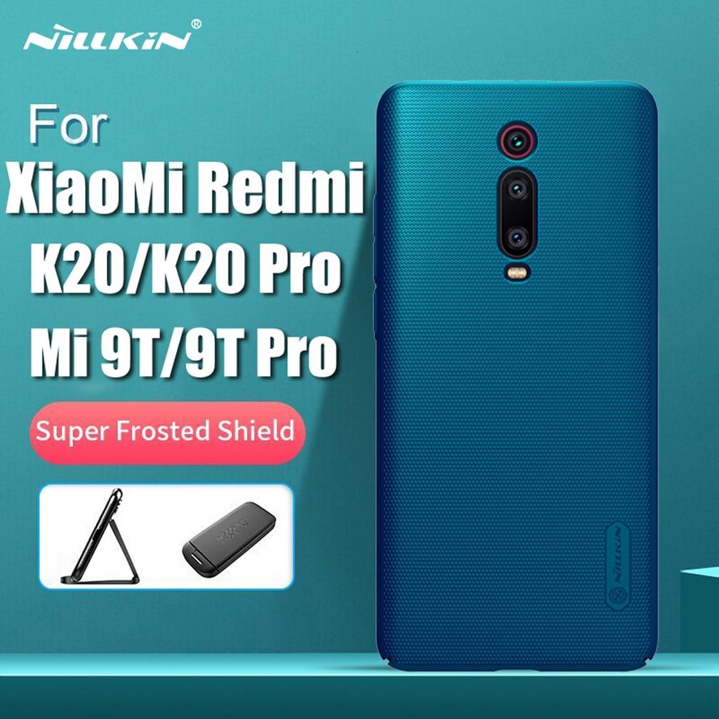 for Xiaomi Redmi Mi 9T Pro case k20 pro global version cover Nillkin Super Frosted Shield PC Hard Back case For Redmi K20 Mi9T(China)