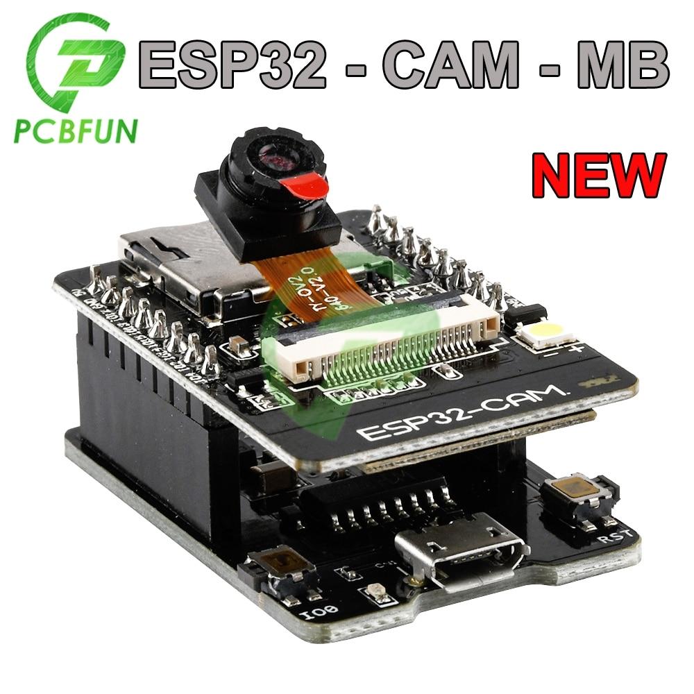 Новый OV2640 Камера + ESP32-CAM-MB WI-FI ESP32 CAM 5V Bluetooth макетная плата для микро-флеш-накопителя USB Серийный Порты и разъёмы CH340G Nodemcu для Arduino