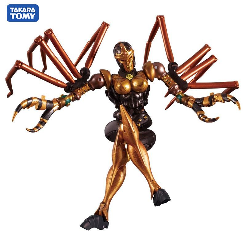 TAKARA TOMY Transformation BW MP-46 Beast Wars Blackarachnid Alloy Splier Warrior Mini Action Figure Robot Toys