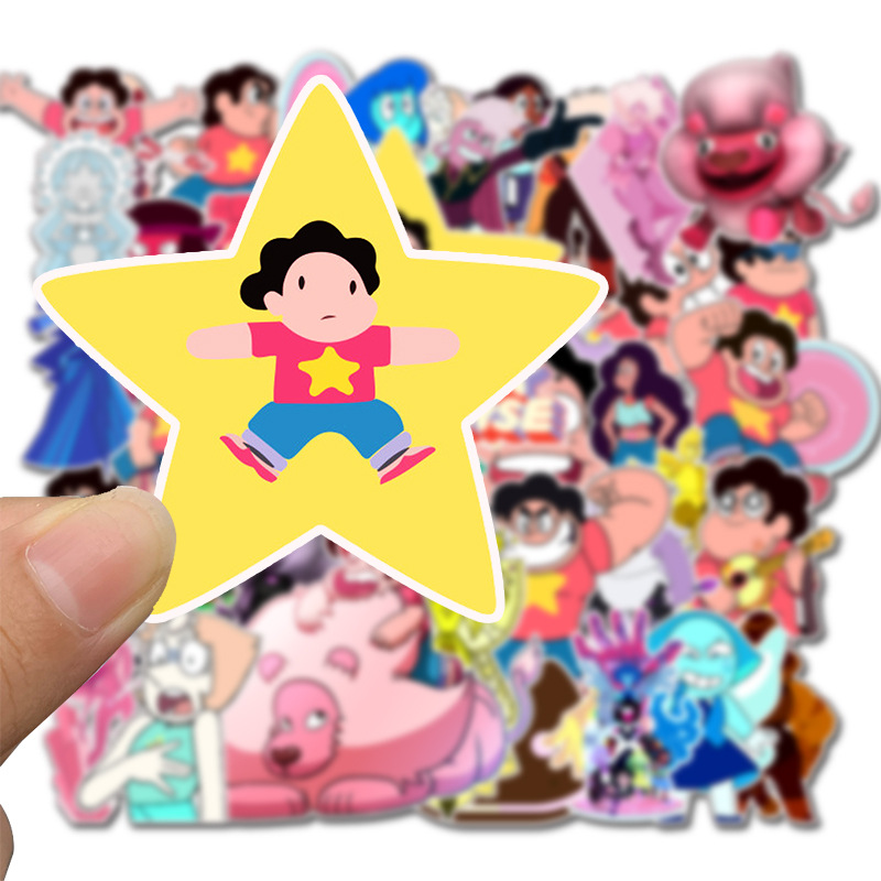 Steven Universe Decal Stickers 63 PCS Steven Universe Laptop Sticker Waterproof Vinyl Stickers Car Sticker Motorcycle Bicycle Luggage Decal Graffiti Patches Skateboard Sticker