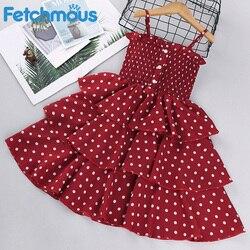 Baby Kinder Mädchen Kleid 2021 Ärmel Dot Casual Kleidung Kleid Baby Mädchen Sommer Kleider für Mädchen 3 4 5 6 7 8 jahre Vestidos zara