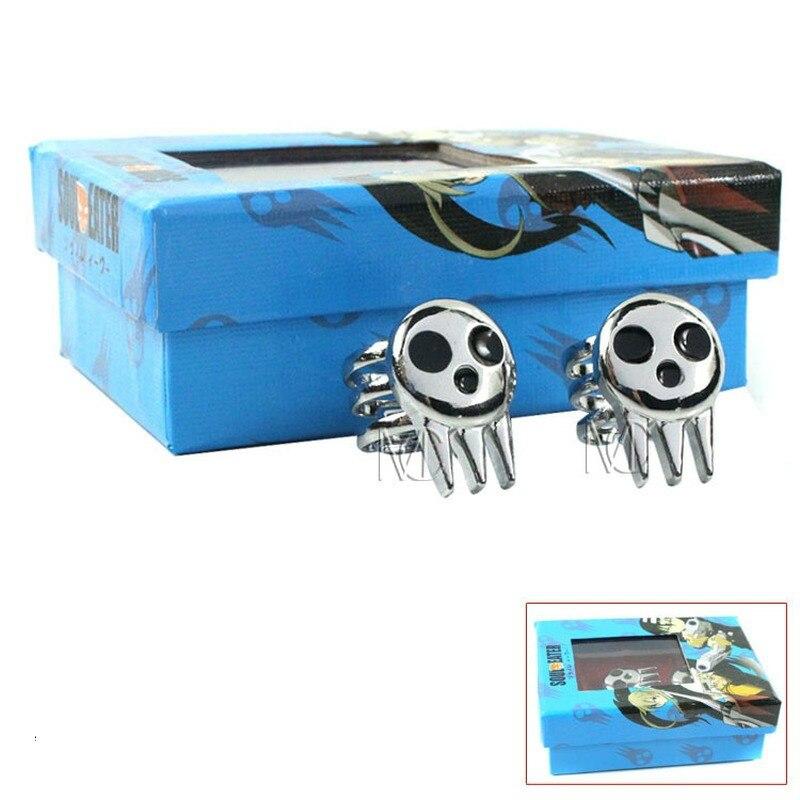 2 шт. в подарочной коробке, металлическое кольцо-Скелет из мультфильма «Пожиратель души»