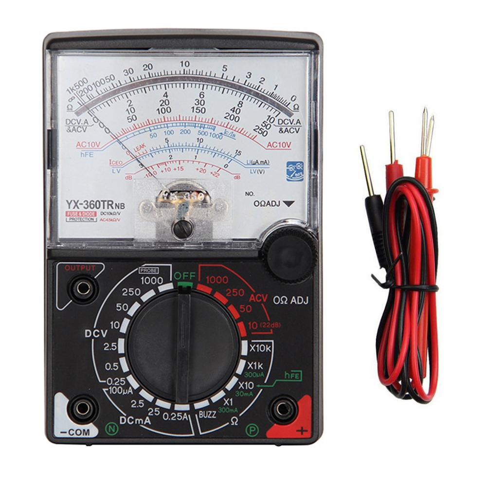 <font><b>YX</b></font>- 360TRNB Mini Portable high accuracy Poin-ter Multimeter with Test Pen <font><b>Tool</b></font> for Measuring DC / AC Voltage and DC Curren New image