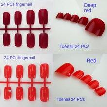 48 шт/компл цветные лазы для ногтей пальцы и на 24 шт акриловый