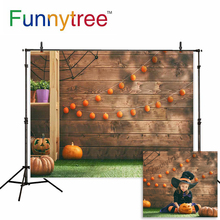 Allenjoy photography backdrop Wooden color balls decorated pumpkin children background newborn original design for photo studio