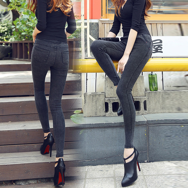 Woman Casual Jeans Skinny Leggings Bodycon High Waist Denim Leggings Push Up Pencil Jeans Legins Mujer Jeggings Jeans For Women