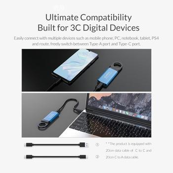 ORICO Mini External SSD M2 NVME Hard Drive 1TB 128GB 512GB M.2 NVME Portable SSD USB-C Type- C 940MB/s Solid State Drive GV100 4