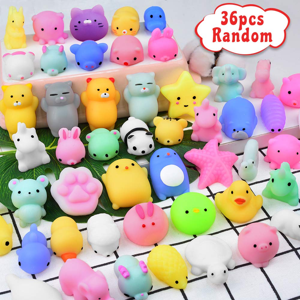 Mochi Squishy Toys Party Favors For Kids Mini Squishy Animal Toys Squeeze Kawaii Squishy Stress Relief Toys Easter Bunny Cat