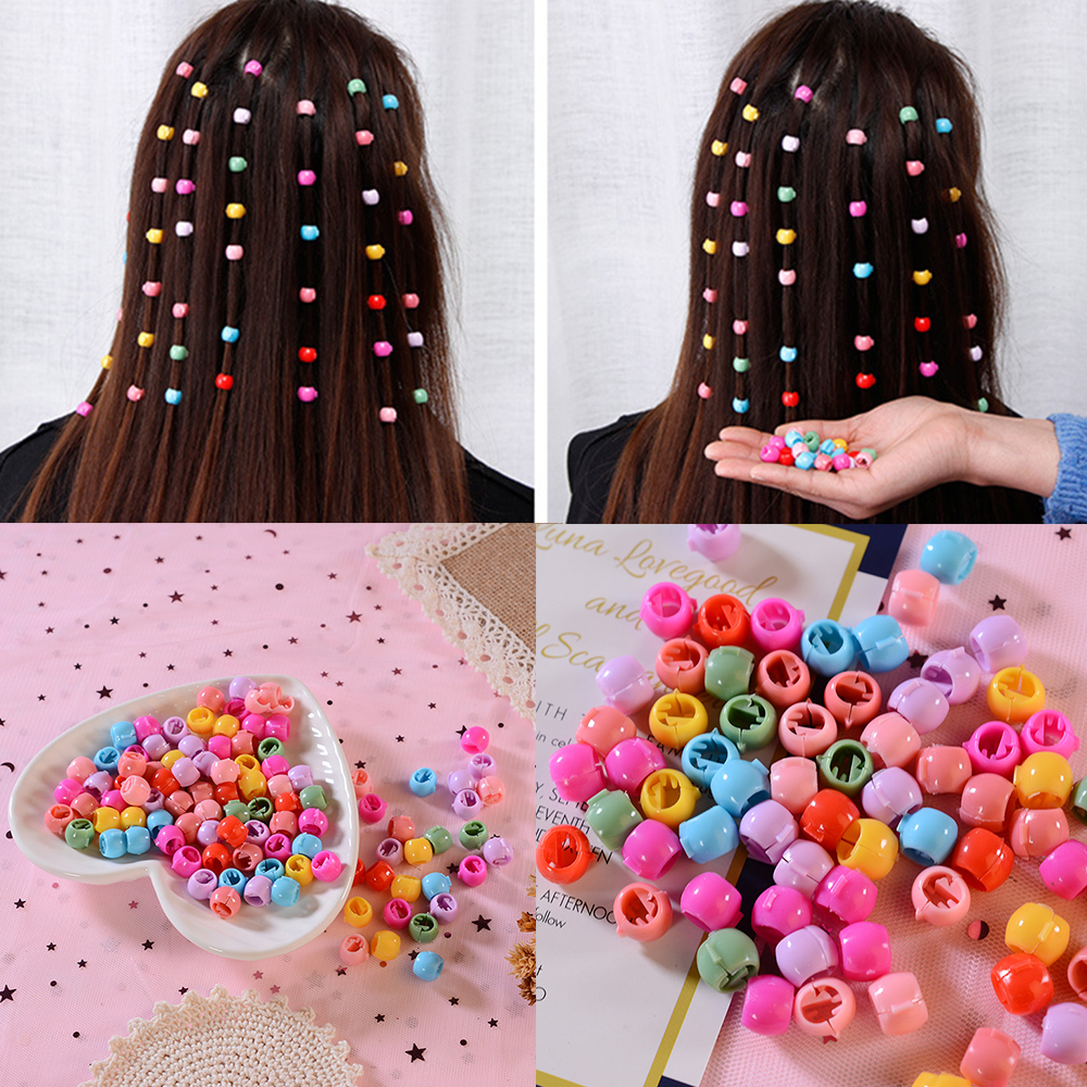 100pcs/Lot Mix Cute Small Hair Claws For Children Lovely Acrylic Mini Hair Clip Candy Color Hairpin Fashion Kid Hair Accessories