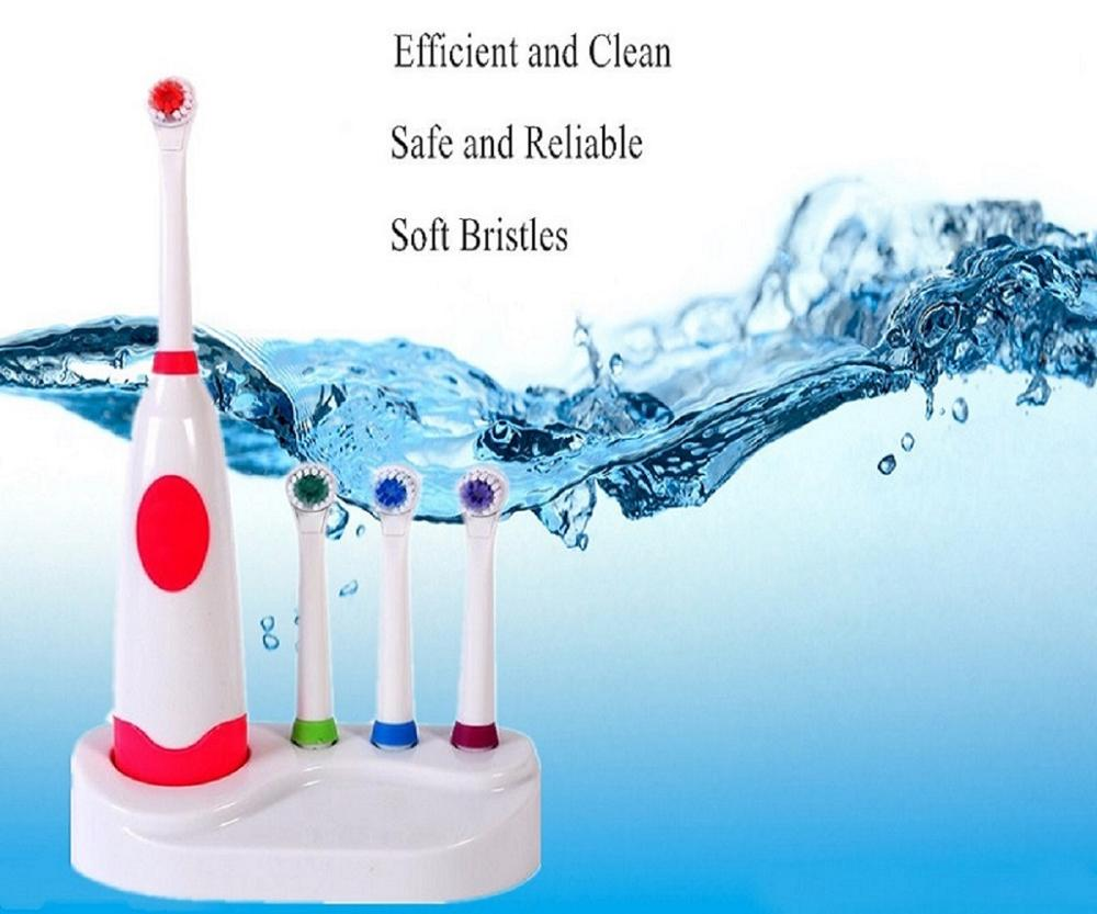 Brand New Children Electric Toothbrush Rechargeable Tooth 3 brush heads for Adult Dental Care Massage very cheap image