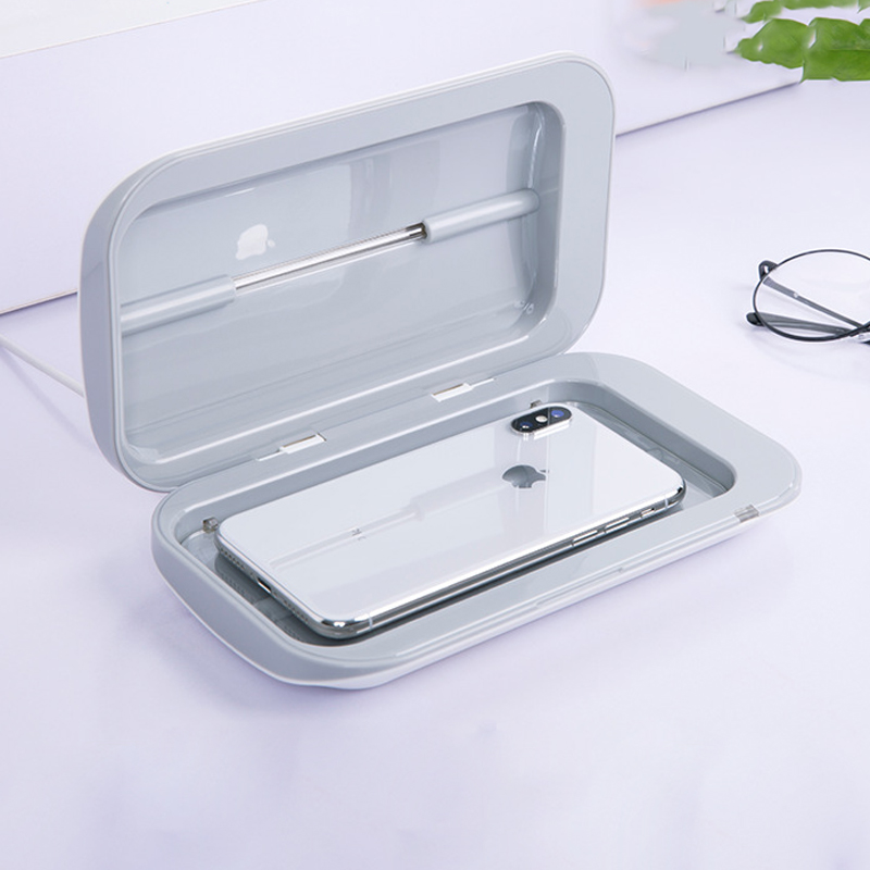 Double UV Sterilizer Mini Portable Cleaning Box Personal Care Ultraviolet Disinfector Cabinet  For Phone Jewerly Watch Cleaner