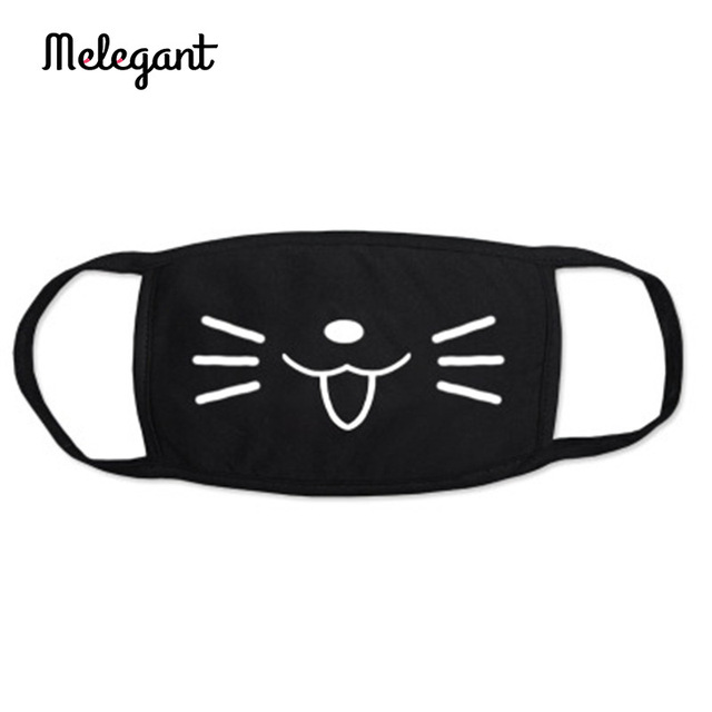 1 Pc Cotton Black Mouth Mask Washable Reusable proof Flu Mouth-muffle 2