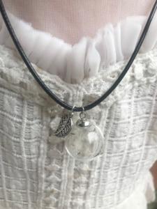 100 шт ожерелье одуванчика 20 мм стеклянный шар кулон ожерелье желать одуванчика ожерелье