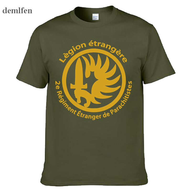 New French Foreign Legion Special Forces War Army T-shirt Men Cotton Short Sleeve T Shirt Tees Tops Homme Camisetas