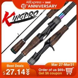Kingdom KING PRO wędki dwie sekcje mają 2 szt. Górnej końcówki lub wielosekcyjne pręty podające Spinning i Casting Fishing Travel Rod w Wędki od Sport i rozrywka na