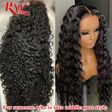 Parrucca frontale a onde profonde a densità 250 9A RXY parrucche trasparenti in pizzo T parte parrucca riccia per capelli umani per donna parrucche frontali in pizzo