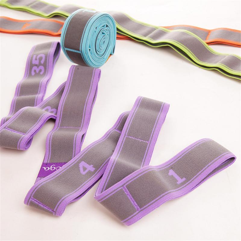 Banda di Tensione della Cinghia di Yoga Fascia di Resistenza Multi-segmento di Stirata Sport Cintura Tratto di Yoga Cintura Elastica di Stirata della Cinghia di Stirata della Cinghia