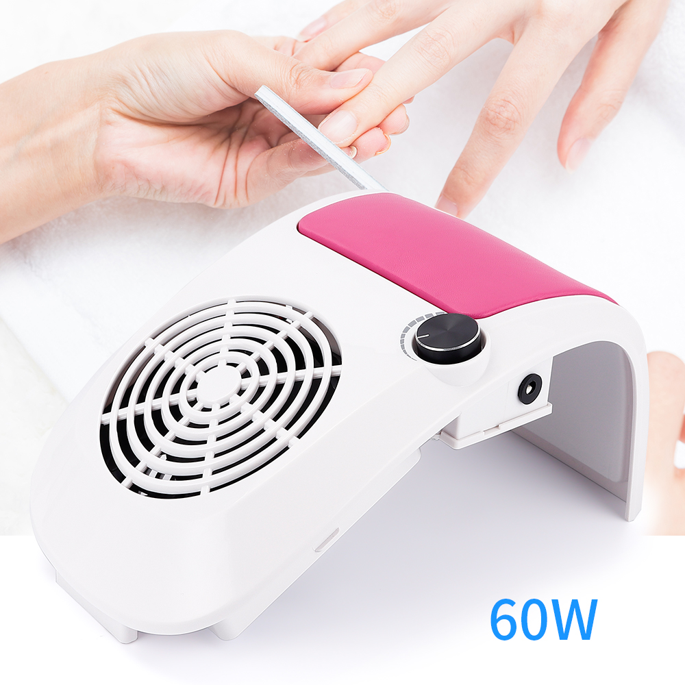 60W Nail Dust Suction Strong Adjustable Speed Collector For Nail Dust Fan Vacuum Cleaner For Manicure Tool Vacuum Nail Suction