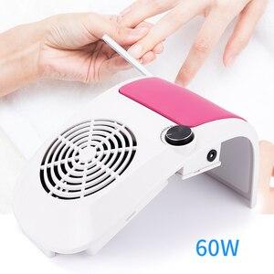 Image 1 - 60W Nail Stofafzuiging Sterke Verstelbare Snelheid Collector Voor Nail Dust Fan Stofzuiger Voor Manicure Tool Vacuüm Nail zuig