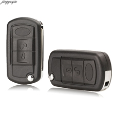jingyuqin Replacement Shell Folding Flip Remote Key Case Fob 3 Button for LAND ROVER Range Rover Sport LR3 Discovery