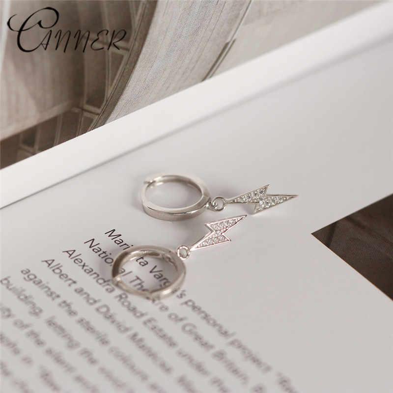 CANNER 2020 nouveau bijoux de mode zircon cubique foudre pendentif boucles d'oreilles 100% 925 en argent Sterling boucles d'oreilles pour les femmes cadeaux